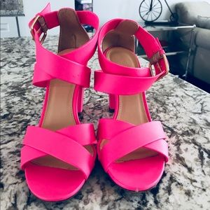 J.Crew sandals in bright pink